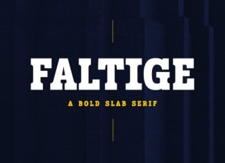Faltige Slab Serif Font