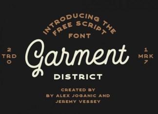 Garment Script Font