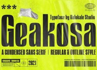Geakosa Sans Serif Font