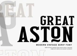 Great Aston Serif Font