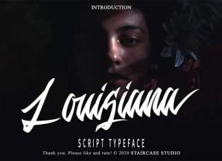 Louisiana Script Font