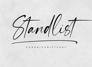 Standlist Handwritten Font
