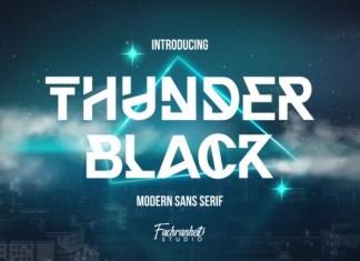 Thunder Black Display Font