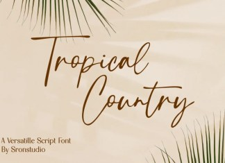 Tropical Country Script Font