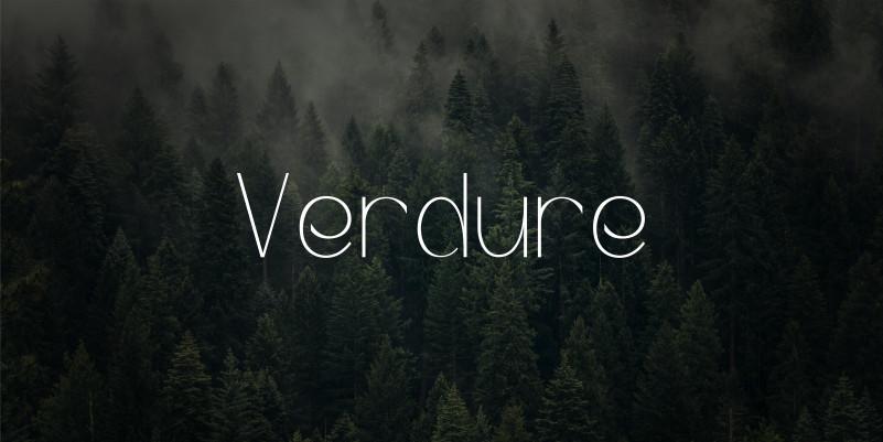 Verdure Display Font