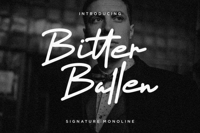 Bitter Ballen Handwritten Font