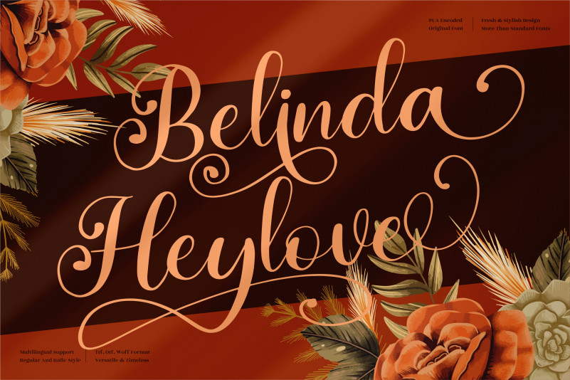 Belinda Heylove Calligraphy Font