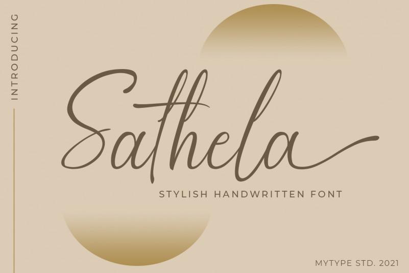 Sathela Calligraphy Font