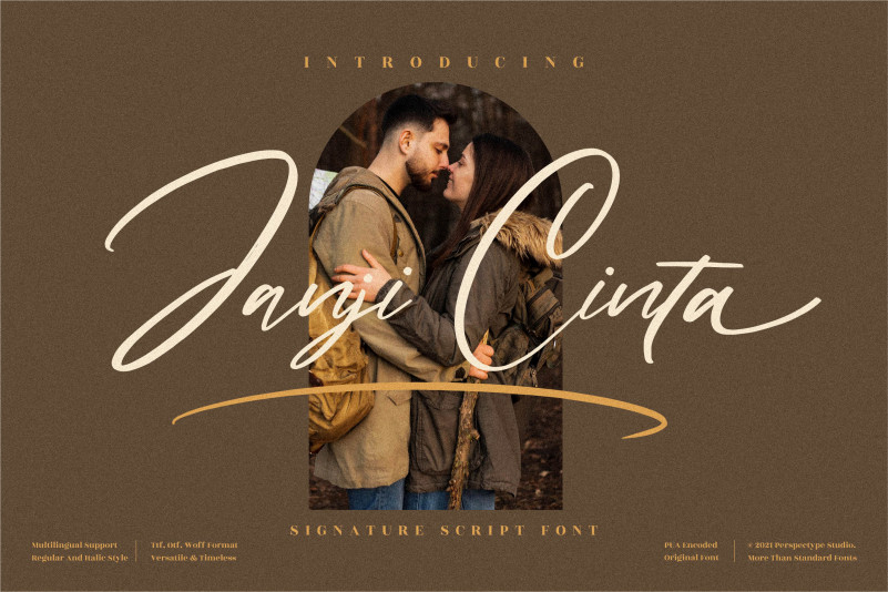 Janji Cinta Script Font
