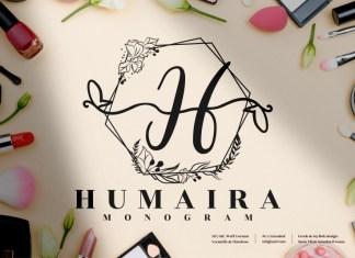 Humaira Monogram Display Font