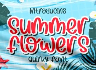Summer Flowers Brush Font