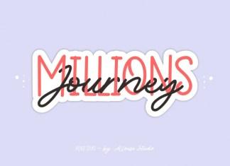 Millions Journey Script Font