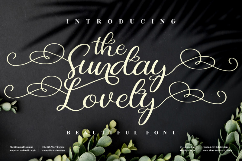 The Sunday Lovely Calligraphy Font