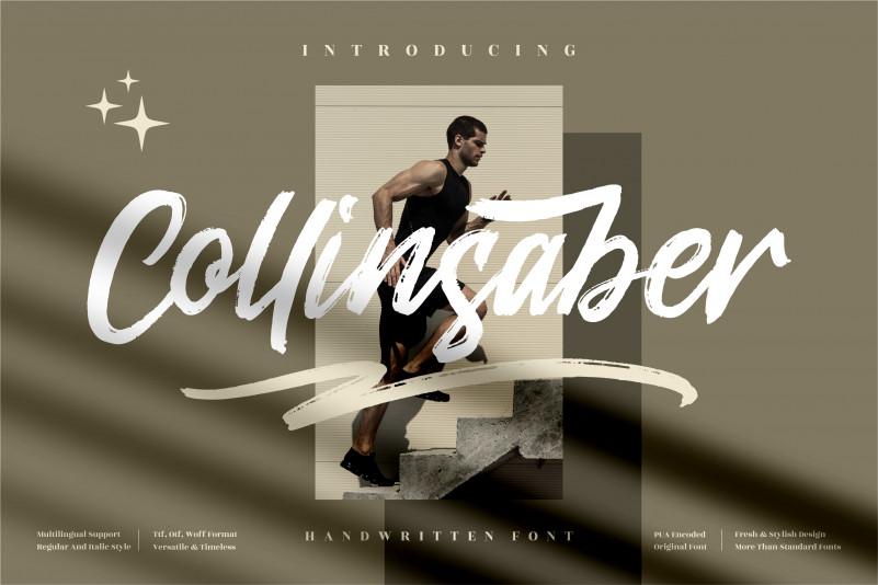 Collinsaber Brush Font