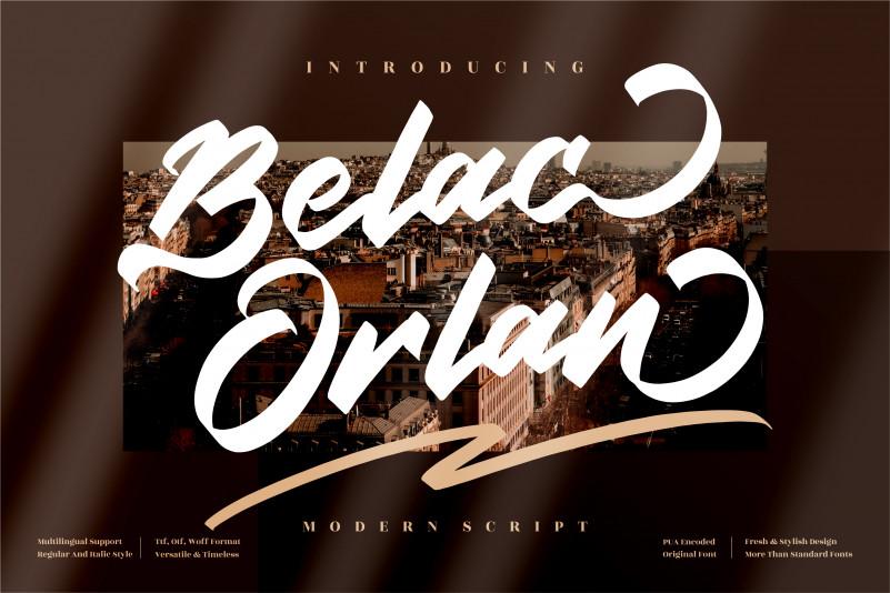 Belac Orlan Brush Font