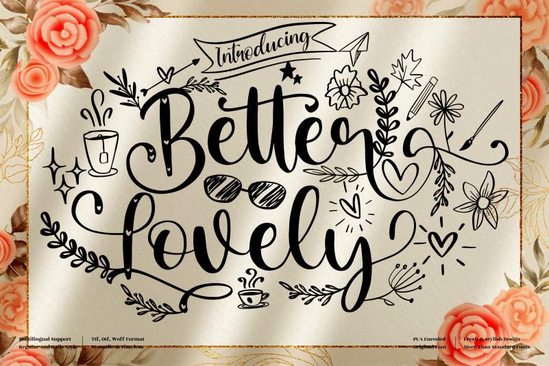 Better Lovely Font