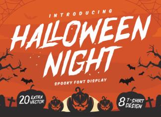 Halloween Night Display Font