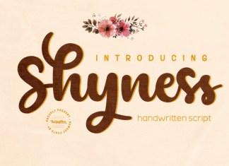 Shyness ,Script Font