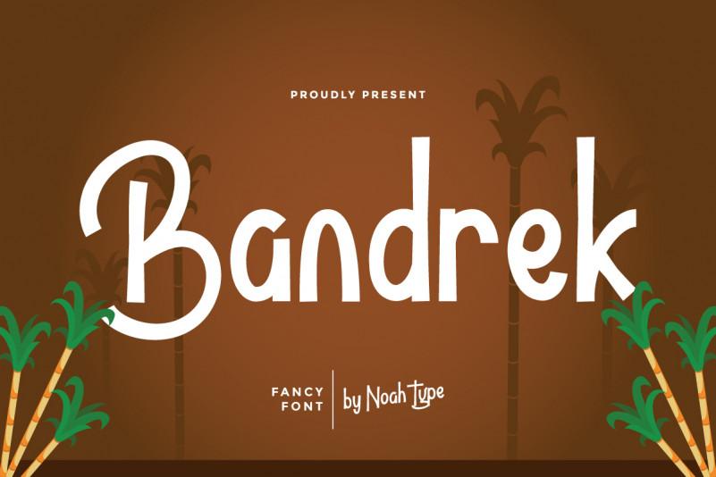 Bandrek Display Font