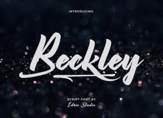 Beckley Brush Font