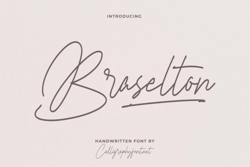 Braselton Handwritten Font