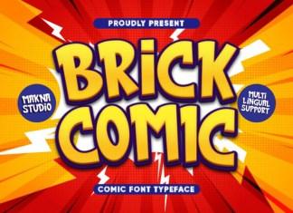 BRICK COMIC Display Font