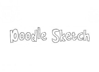 Doodle Sketch Display Font