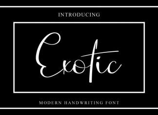 Exotic Script Font