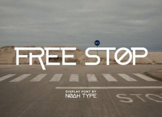 FreeStop Display Font