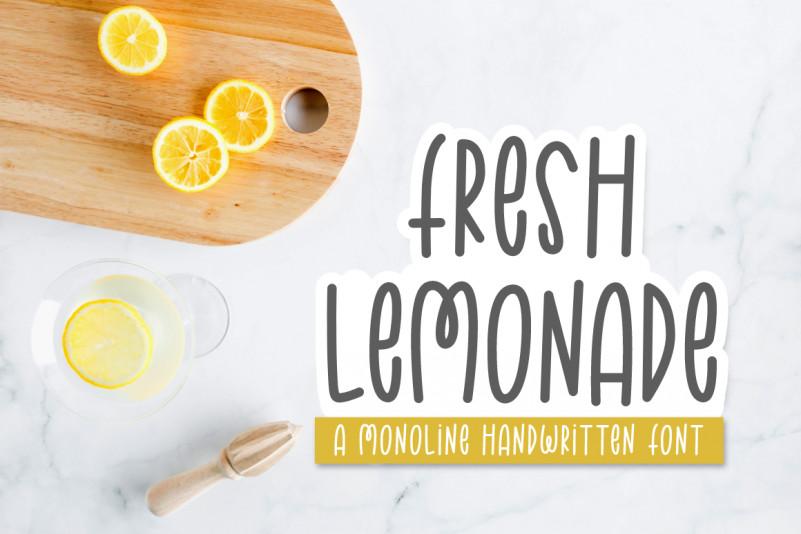 Fresh Lemonade Handwritten Font