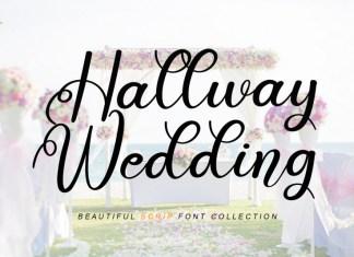 Hallway Wedding Calligraphy Font