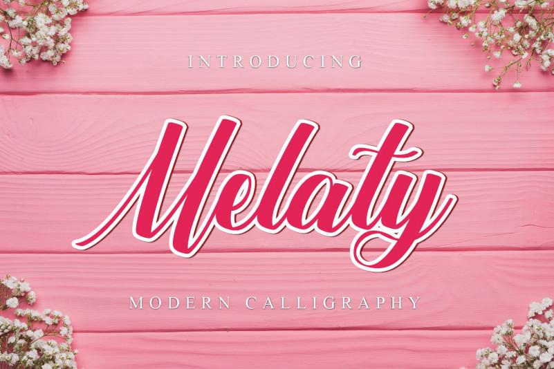 Melaty Script Font
