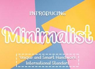 Minimalist Display Font