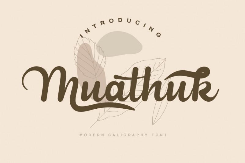 Muathuk Calligraphy Font