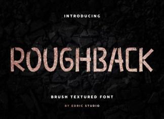 Roughback Brush Font