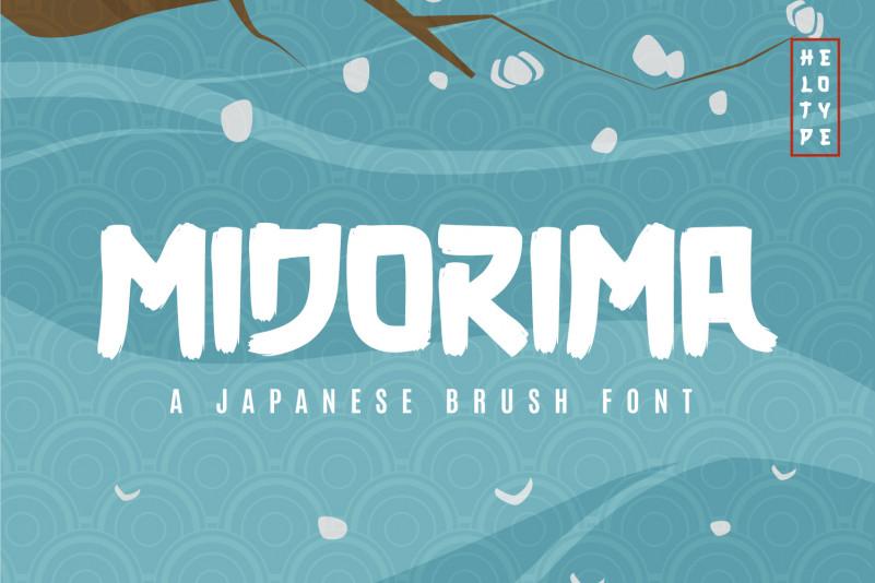 Midorima Brush Font