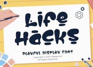 Life Hacks Display Font