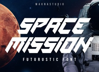 Space Mission Display Font