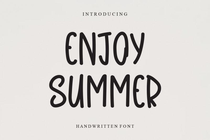Enjoy Summer Display Font