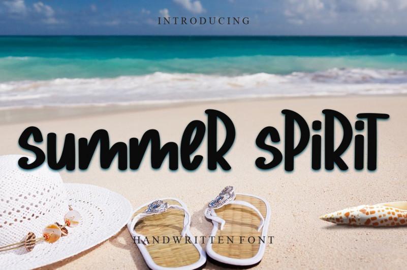 Summer Spirit Brush Font