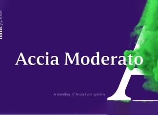 Accia Moderato Serif Font