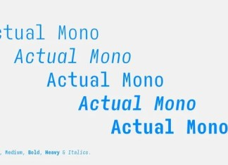 Actual Mono Sans Serif Font