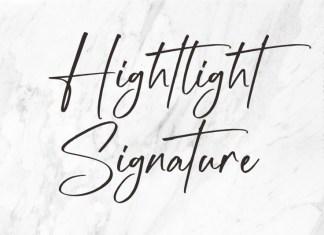 Hightlight Script Font