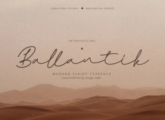 Ballantik Handwritten Font