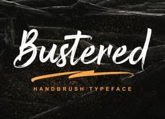 Bustered Brush Font