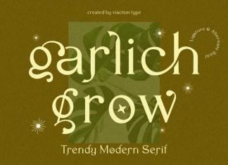 Garlich Grow Sans Serif Font
