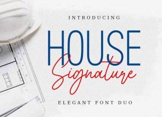 House Signature Font