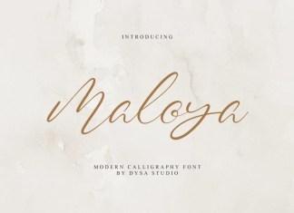 Maloya Script Font
