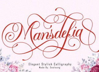 Mansdefia Calligraphy Font