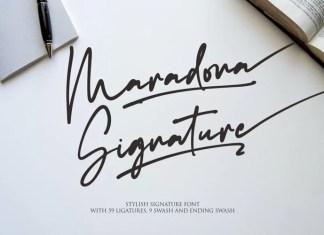 Maradona Signature Script Font
